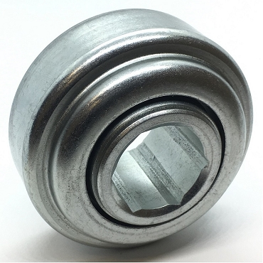 3.073 in. OD, 1.085 in. Hex Bore, Straight Faced Unground Non-Precision Conveyor Roller Bearing 1SP-B1080-1