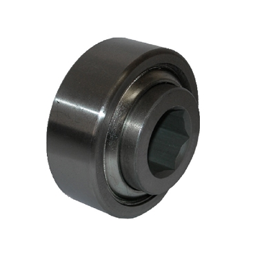3.073 in. OD, 1.085 in. Hex Bore, Straight Faced Unground Non-Precision Conveyor Roller Bearing 1SP-1SP-B1160-2