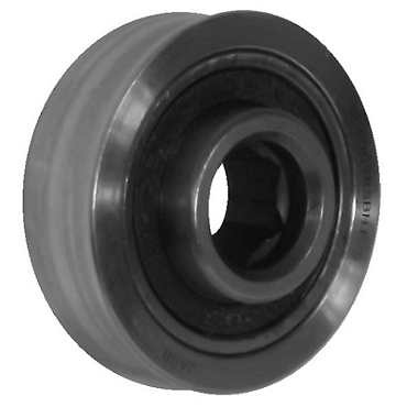 1.5 in. OD, 7/16 in. Hex Bore, Flanged Precision Conveyor Roller Bearing CBSF1.5x7/16