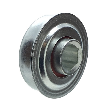 1.502 in. OD, 7/16 in. Hex Bore, Front & Rear Seals, Flanged Unground Non-Precision Bearing FA380-1110H