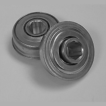 1.502 in. OD, 7/16 in. Hex Bore, Flanged Unground Non-Precision Bearing FA380-1100H