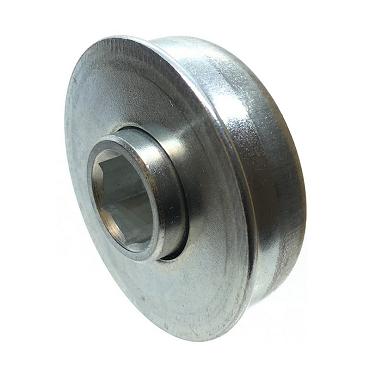 1.526 in. OD, 7/16 in. Hex Bore, Flanged Unground Non-Precision Bearing 1SP-B1020-1
