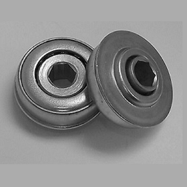 1.712 in. OD, 7/16 in. Hex Bore, Flanged Unground Non-Precision Bearing FA434-1120H