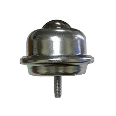 Stud Mounted Ball Transfer, Carbon Steel Housing, 1-1/2 in. Stainless Steel Ball BTSM-381SS